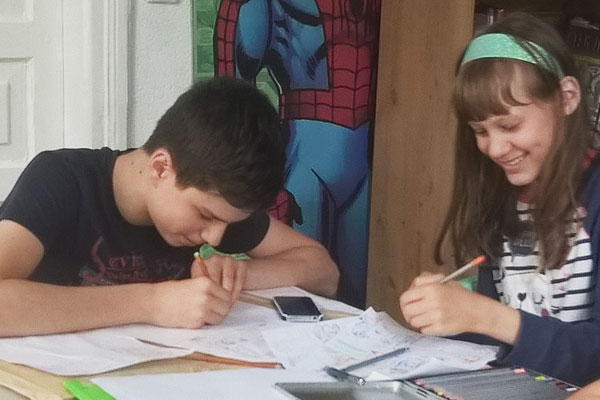 Lucky Book Room comics courses for teens children Kiev